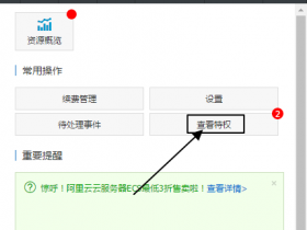 阿里云更新云服务器ECS用户特权功能,可查看本账号资源限额、后付费最高配置